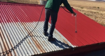 Peinture toiture hangar tôles et fibro